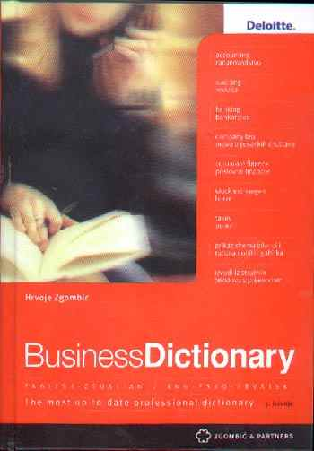 BUSINESS DICTIONARY, ENGLESKO-HRVATSKI - Naruči svoju knjigu
