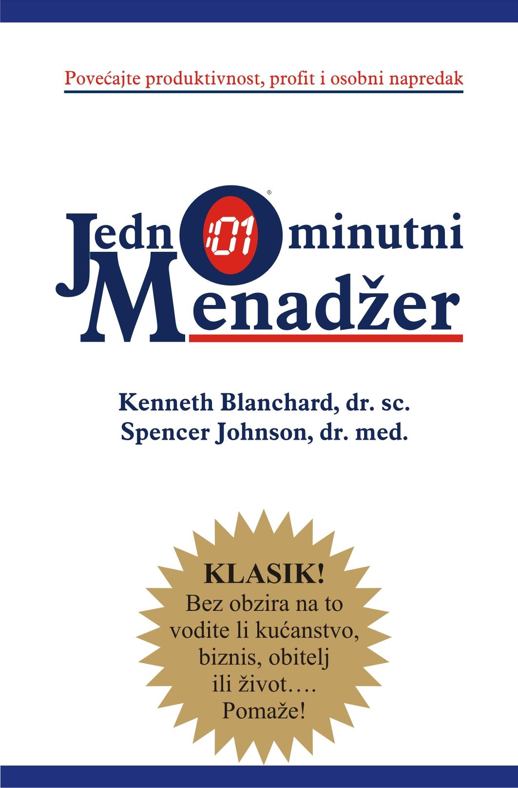 JEDNOMINUTNI MENADŽER - Naruči svoju knjigu
