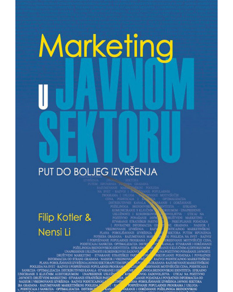 MARKETING U JAVNOM SEKTORU - Naruči svoju knjigu