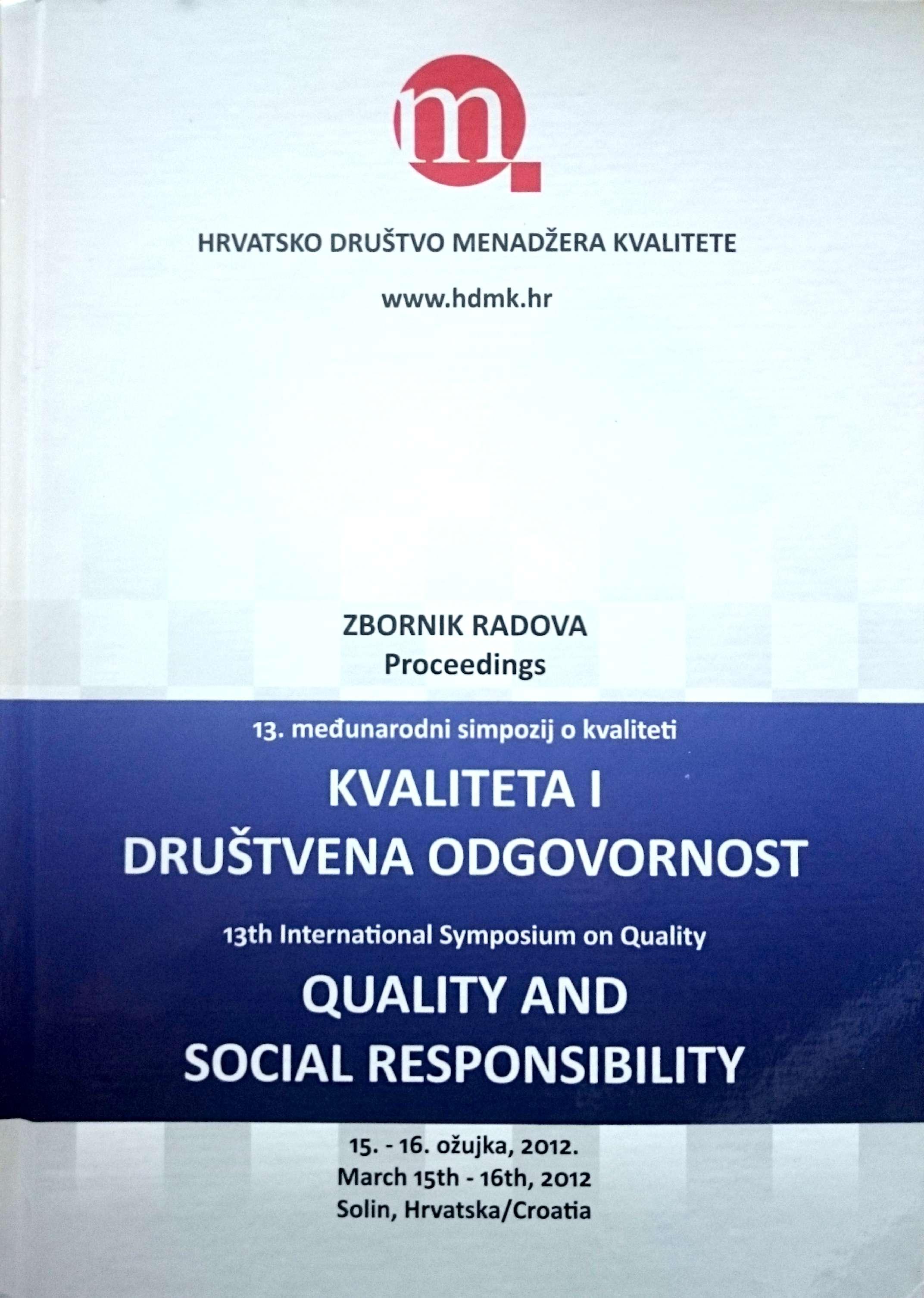 KVALITETA I DRUŠTVENA ODGOVORNOST, zbornik radova - Naruči svoju knjigu