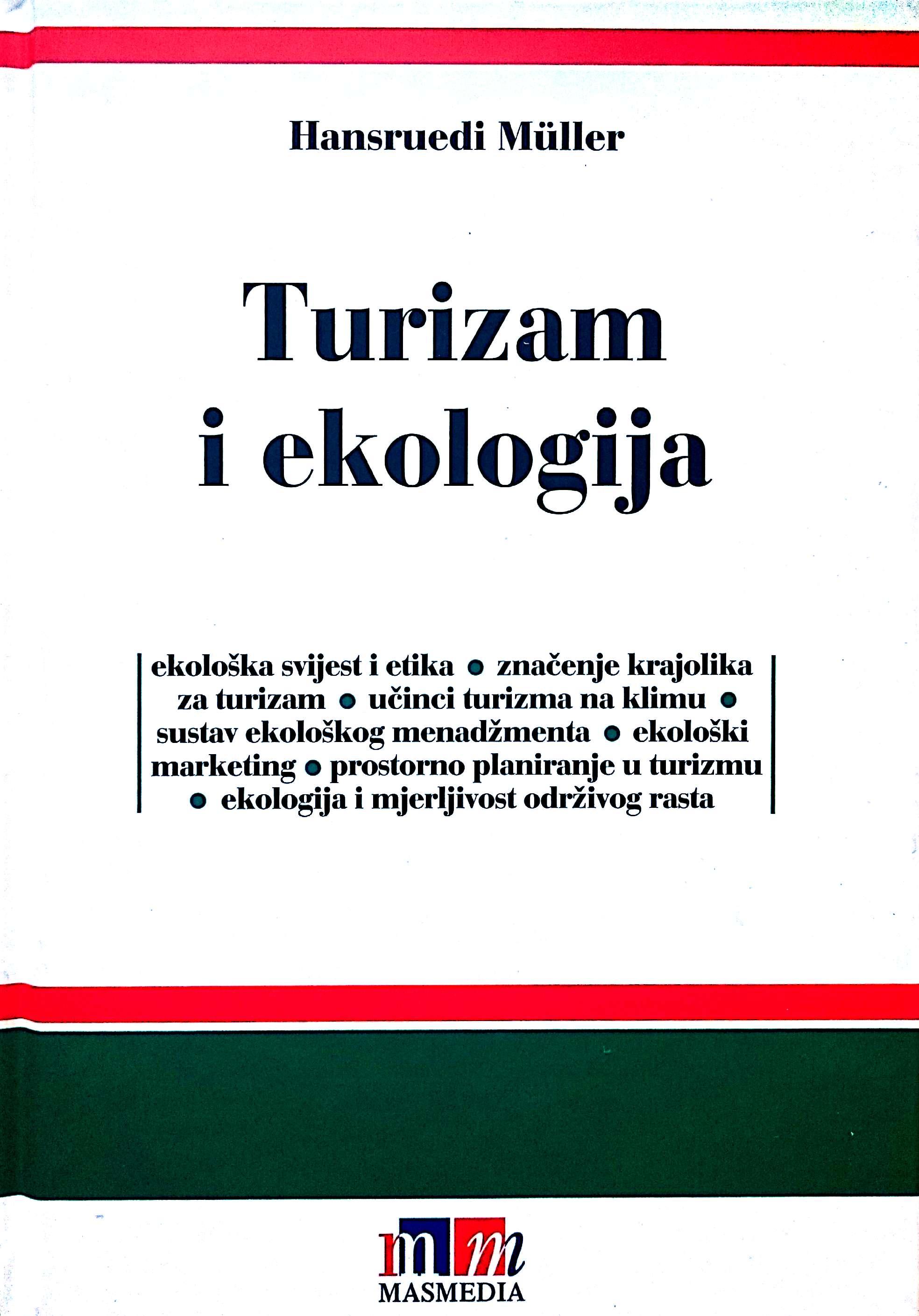 TURIZAM I EKOLOGIJA - Naruči svoju knjigu