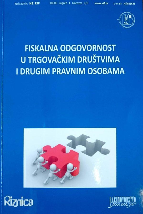 FISKALNA ODGOVORNOST U TRGOVAČKIM DRUŠTVIMA I DRUGIM PRAVNIM OSOBAMA - Naruči svoju knjigu